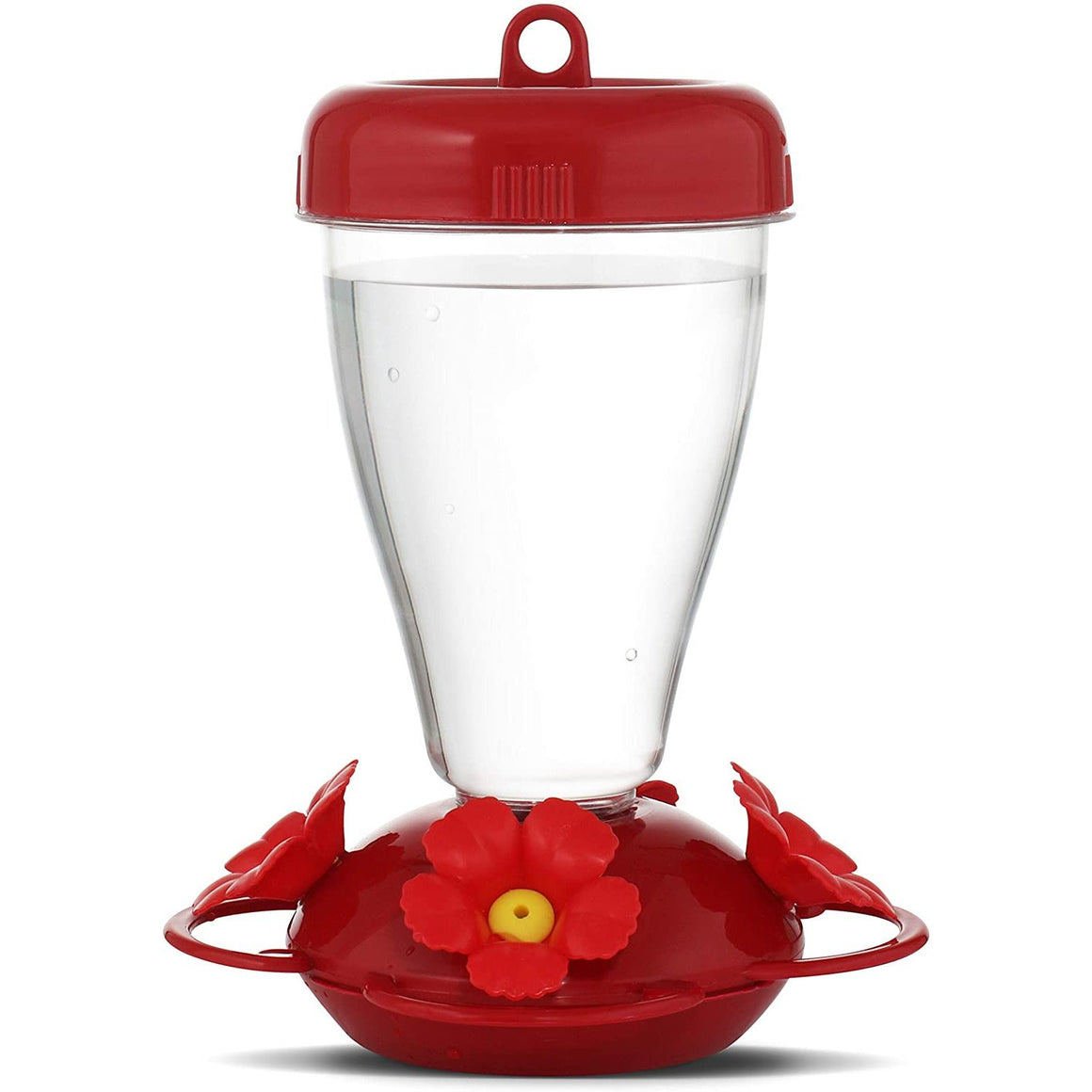 Perky-Pet Red Hibiscus Top Fill Plastic Hummingbird Feeder 16 oz