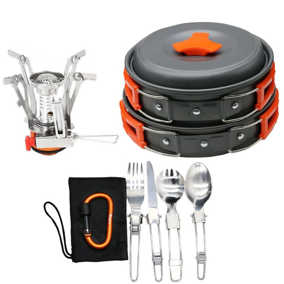 Bisgear 16 Pcs Camping Cookware