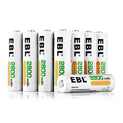EBL AA Batteries 2800mAh Ni-MH Rechargeable Batteries