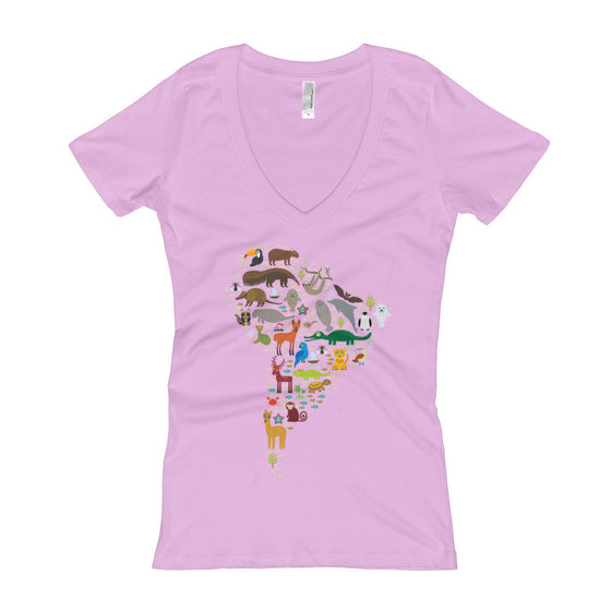 Women's V-Neck T-Shirt - South American Wildlife