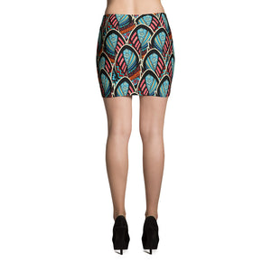 Mini Skirt - Abstract Feathers