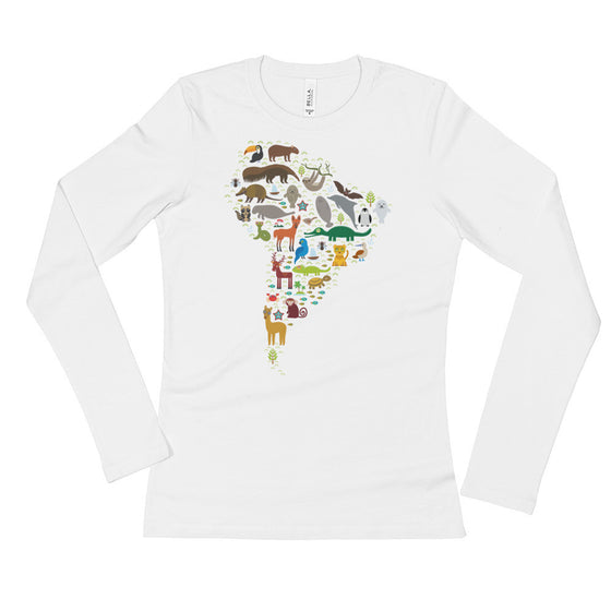 Ladies' Long Sleeve T-Shirt - South American Wildlife