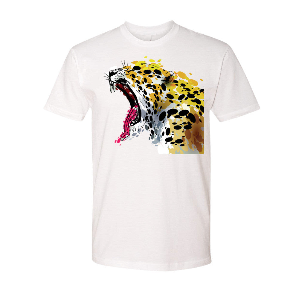 Short Sleeve Men's t-Shirt - Abstract Jaguar Yawning