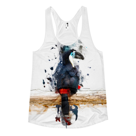 Women's Racerback Tank - Abstract Toucan