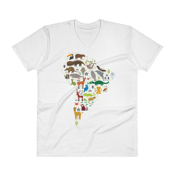 V-Neck T-Shirt - South American Wildlife