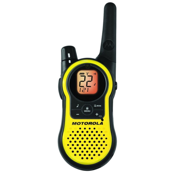 Motorola Talkabout MH230R 23 Miles Rechargeable Two-Way Radio x 2 u.