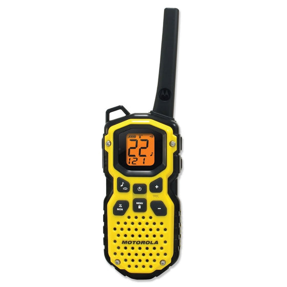 Motorola Talkabout MS350R 35 Miles Rechargeable Two-Way Radio x 2 u.