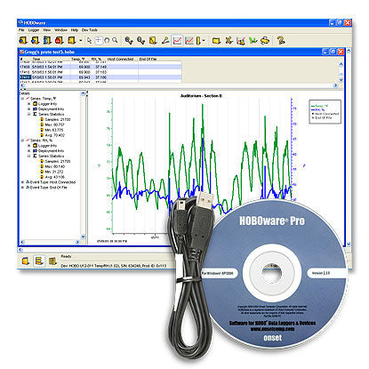 HOBOware Pro Mac/Win Data Logger Software