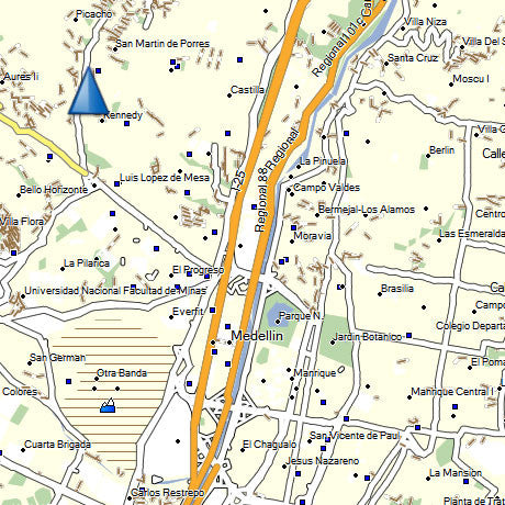 Colombia Map for GPS Garmin