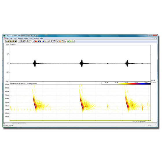 BatSound Real-time Spectrogram Analysis Software