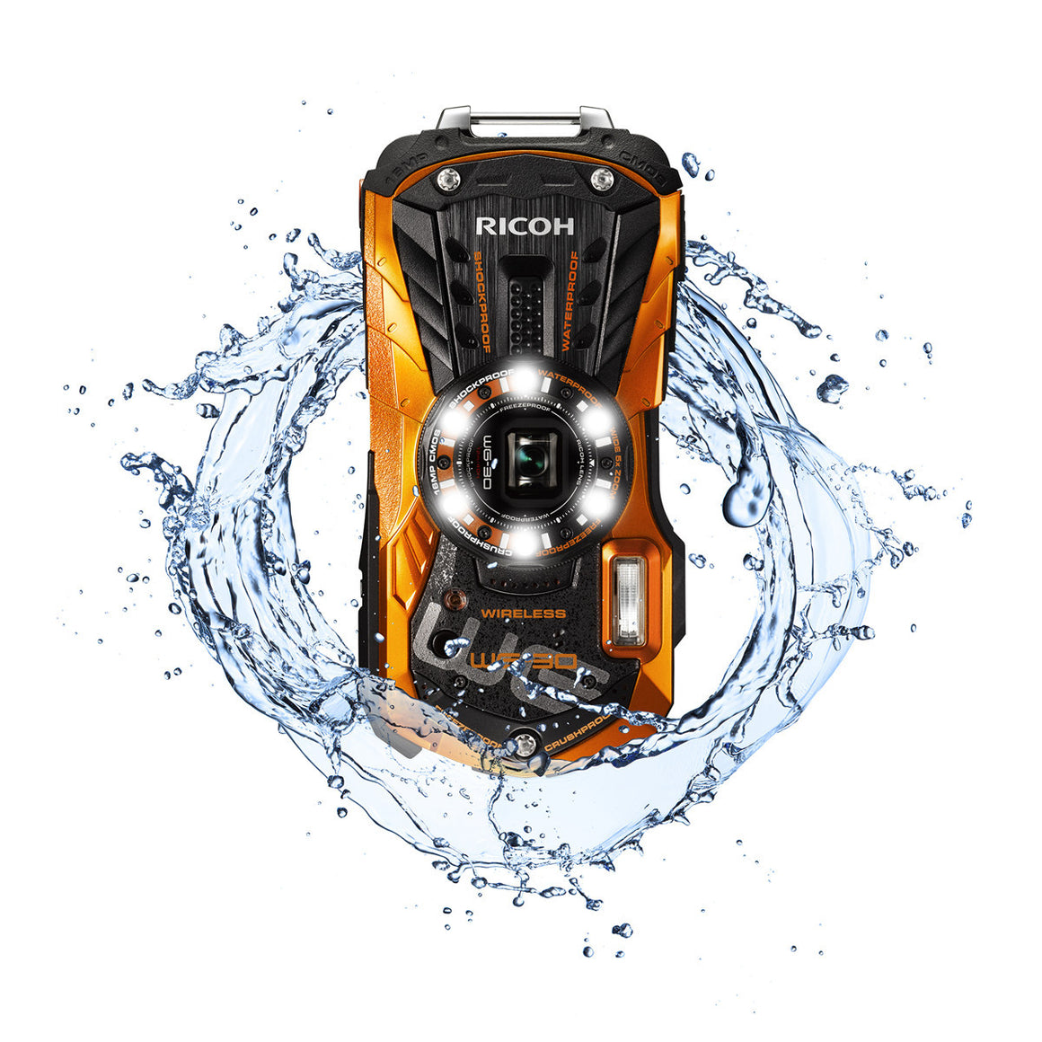 Ricoh (Pentax) WG-30w Waterproof Compact Digital Camera 16 MP Optical Image Stabilized Zoom 5X