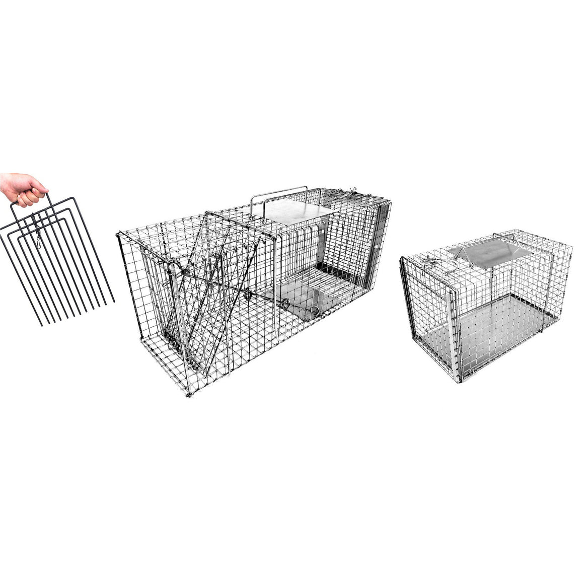 "30"" Cat Trap w/ Transfer Cage and Trap Divider"