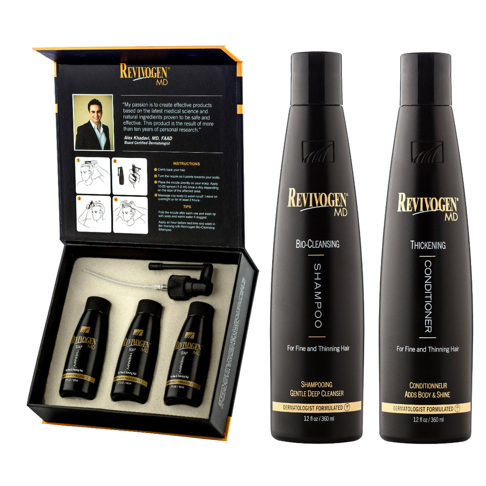Revivogen MD Scalp Therapy, Bio Cleansing Shampoo & Thickening Conditioner