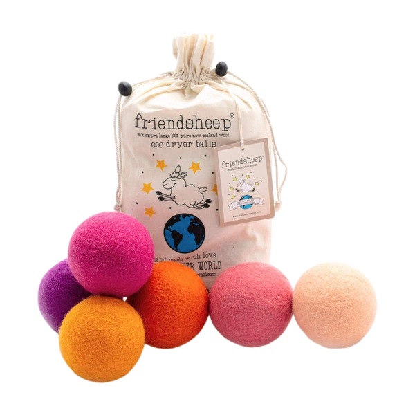 Wool Dryer Balls - Pack of 6