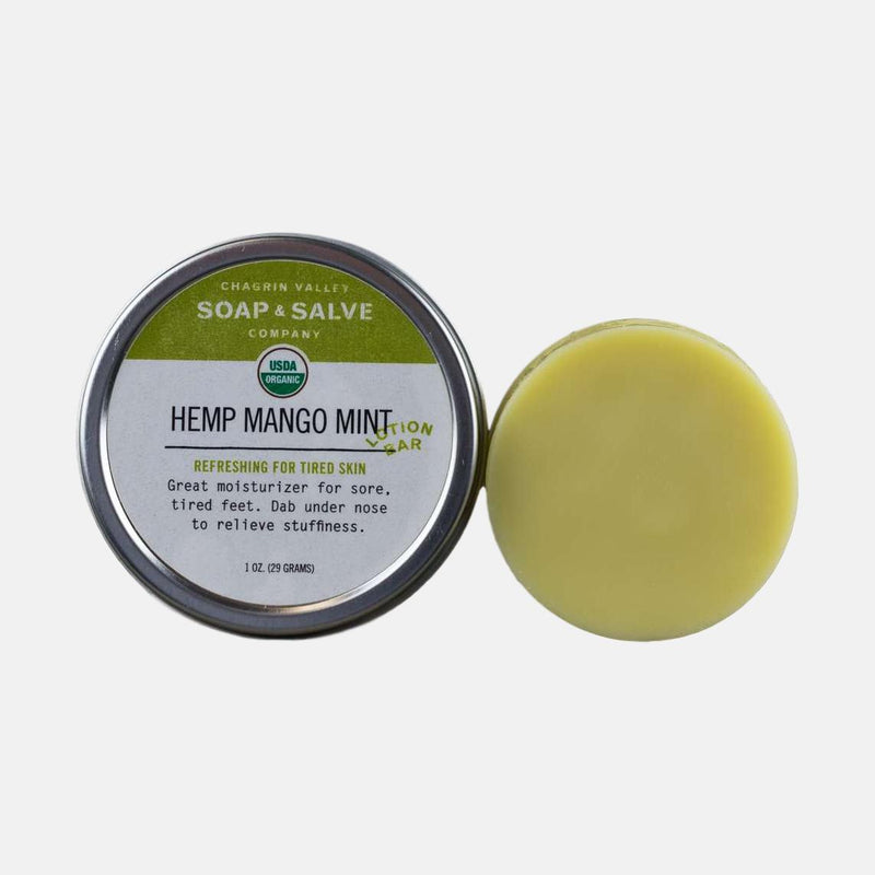 Organic Hemp Mango Mint Lotion Bar