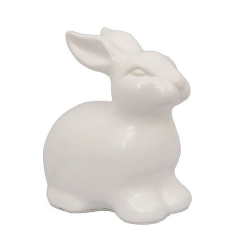 Large White Ceramic Bunny.