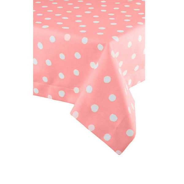 Oilcloth - Pink & White Polka Dots