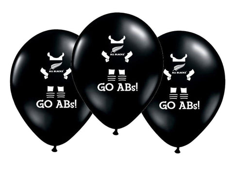 All Blacks Party Balloons.