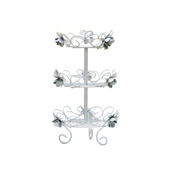 Rose Decorated Stand Double Layered - (Hire Only)