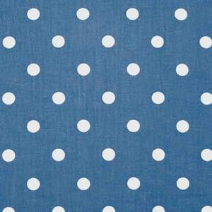 Oilcloth - Blue and White Polka Dots