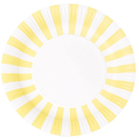 Paper plates Yellow and white