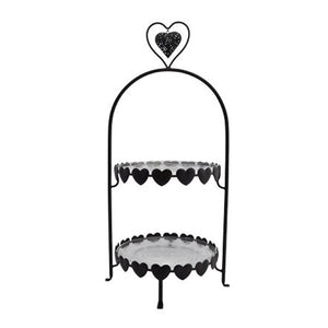 Double Layer Heart Stand - (Hire Only)