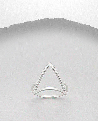 Modern Geometric 925 Sterling Silver Ring
