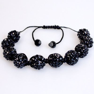 Trending Now... Shamballa Bracelets, Black Crystal