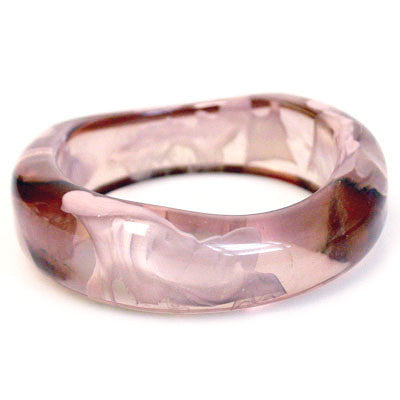 Collector's Lucite Cloud Bangle Bracelet in Pink