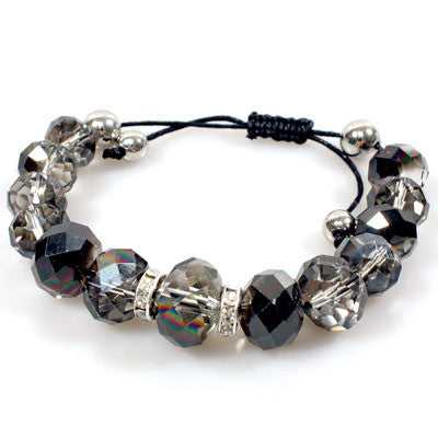 Black Diamond Crystal Shamballa Bracelets
