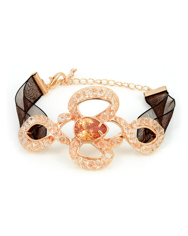 Swarovski Crystal 18K Rose Gold Bangle Bracelet
