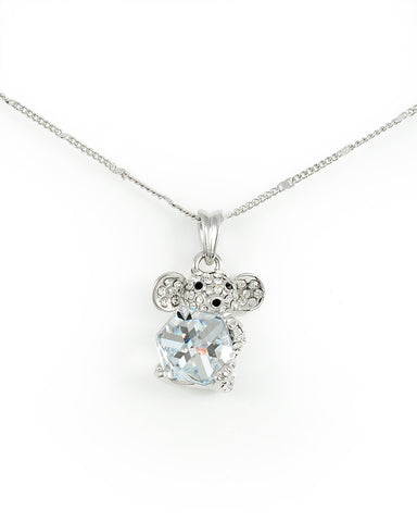 Christmas Mouse Holding Swarovski Clear Cube Crystal