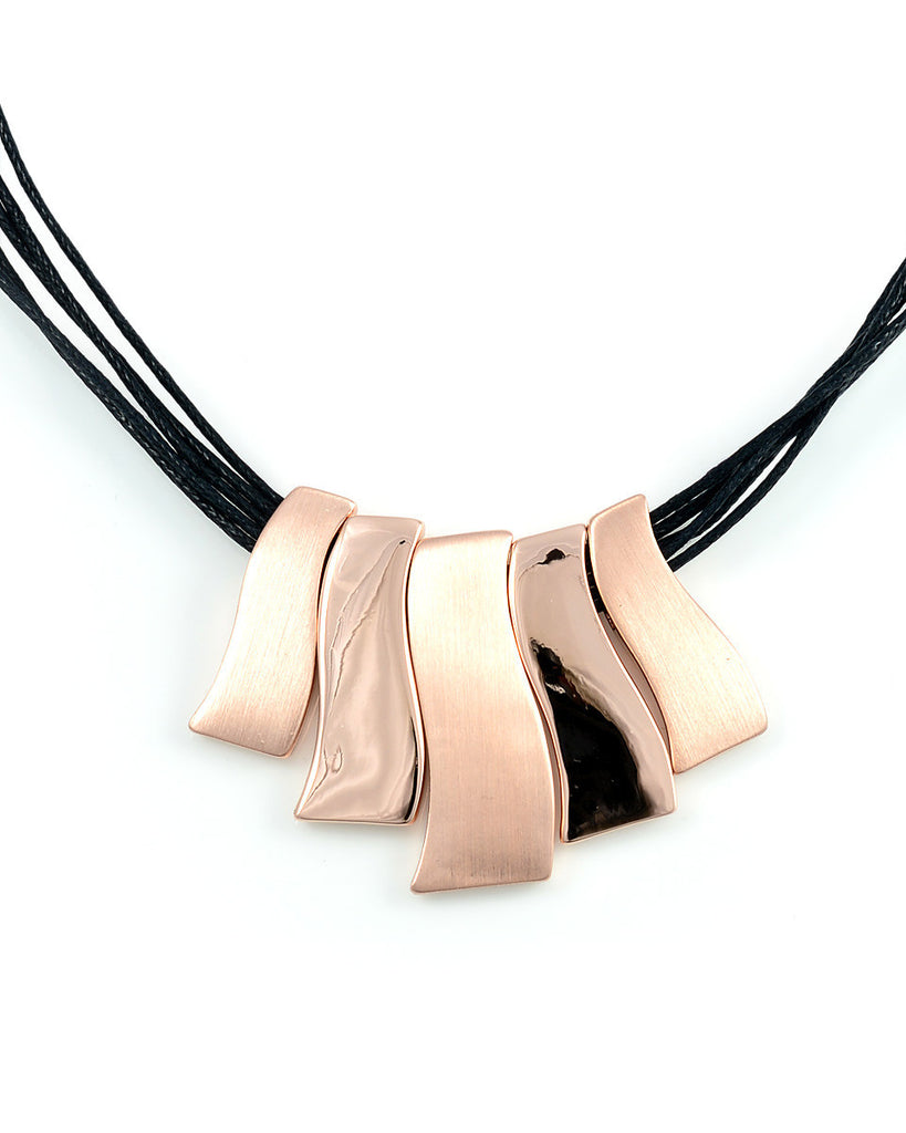 18K Rose Gold Dangle Necklace