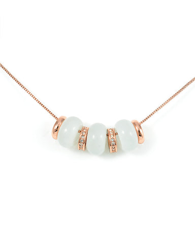 Trending Now Bead Necklaces, Rose Gold Plated Bead Necklace