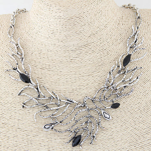 Hand Crafted Antique Silver Necklace