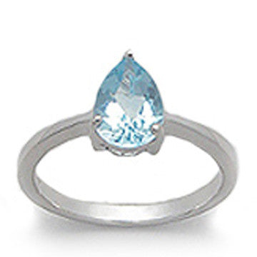 Sky Blue Topaz Gemstone 925 Sterling Silver Ring