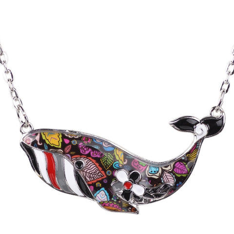 Colorful Whale Pendant Necklace