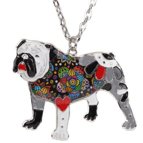 Best In Show Bulldog Pendant Necklace