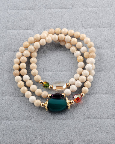 Exotic Jewels Collection High Quality Crystal and Beads Yoga Bracelet