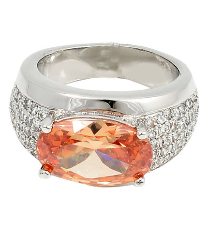 Rings, Austrian Crystal, Cubic Zirconia, Peaches