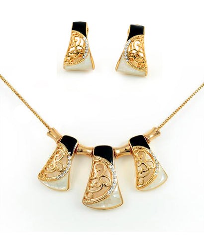High Quality Plated Gold Inlaid Necklace Set