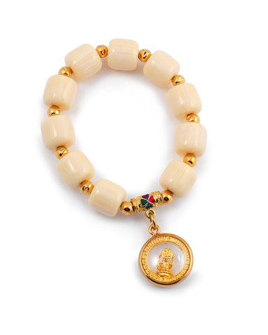 Exotic Jewels Collection High Quality Crystal and Beads Yoga Bracelet Globe