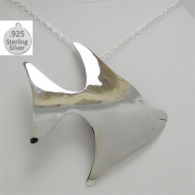Sterling Silver Fish Pendant With Chain