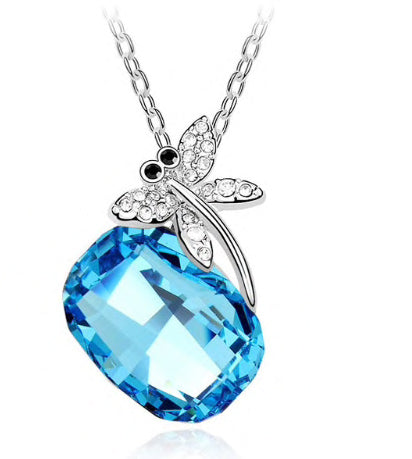 Swarovski Crystal Dragonfly Necklace