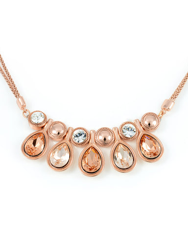 Swarovski Crystal Necklace, Rose Gold