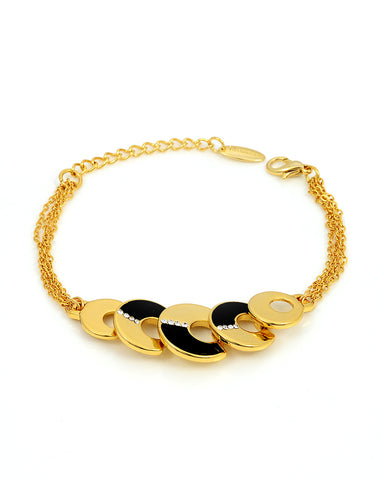 18K Gold Bracelet Bangle, Dragonfly Signature Collection