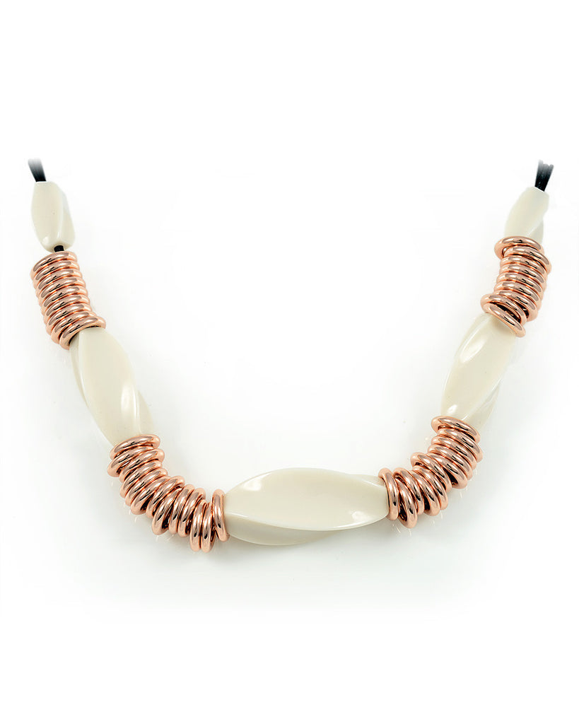 18K Rose Gold Boho Slider Necklace