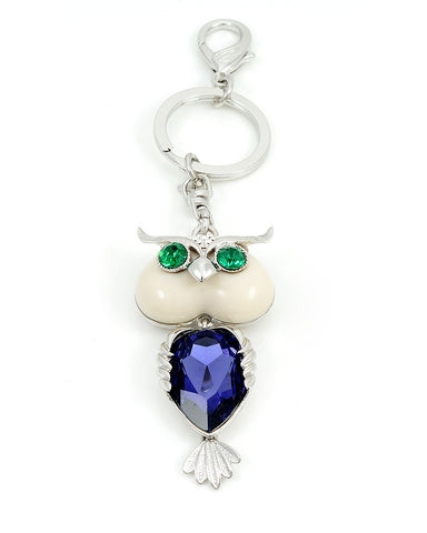 Full Of Wonder Rhodium Plated Owl Key Chain