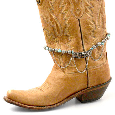Western Boot Anklet Steer Drop Chain