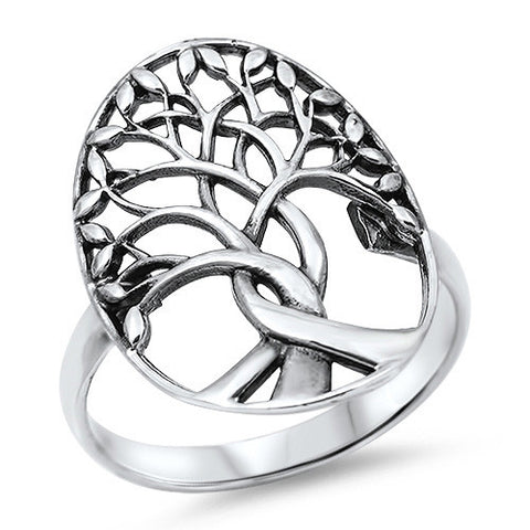 New Design Tree Of Life 925 Sterling Silver Ring